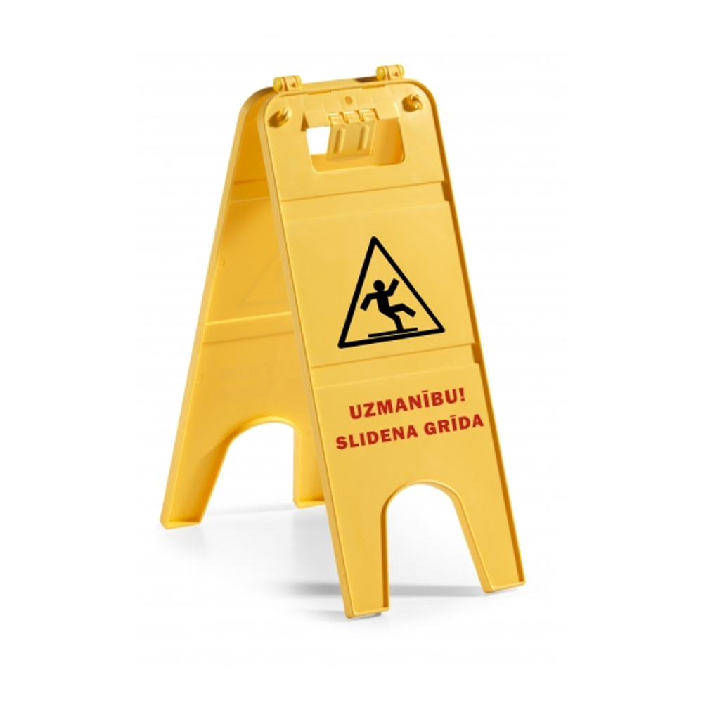 """Brīdinājuma zīme """"Uzmanību! Slidena grīda"""""""