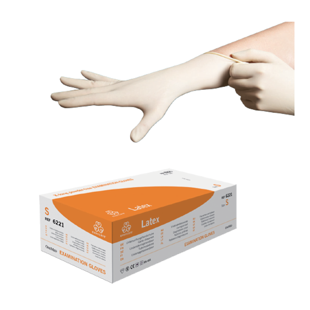Powder — free Latex Gloves