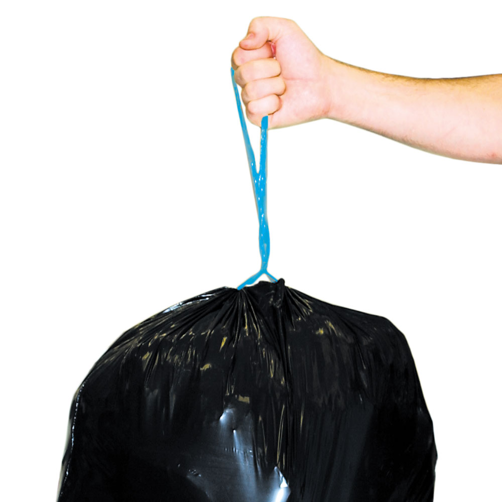 Tightened garbage bags