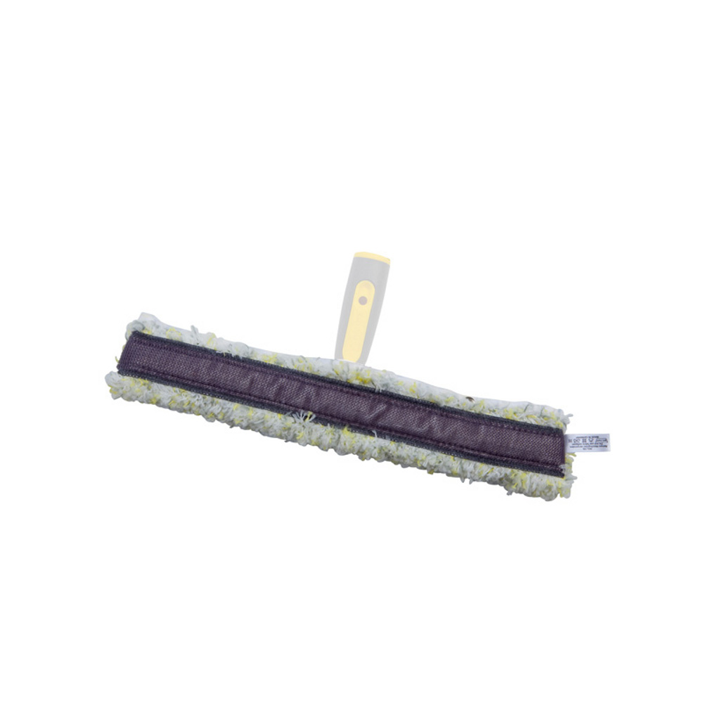 Window cleaning mop with an abrasive