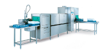 Rack conveyor dishwashing machines